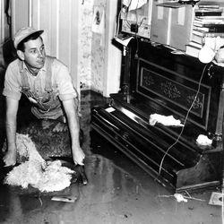 Home flooded in Salt Lake City. April 30, 1952.