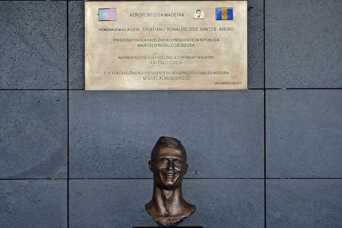 8320155e5 The guy who made the terrible Cristiano Ronaldo statue compared himself to  Jesus