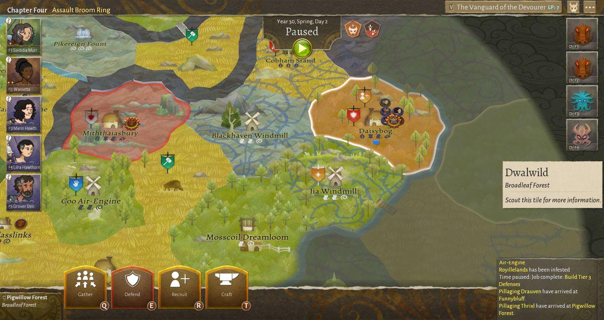 Wildermyth's map presents tense strategic choices