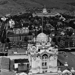 Hotel Utah's beehive, photographed in 1964, has been a historic landmark for 76 years. Photo taken by J.M. Heslop in 1964 ran in the paper on Nov. 28, 1978.