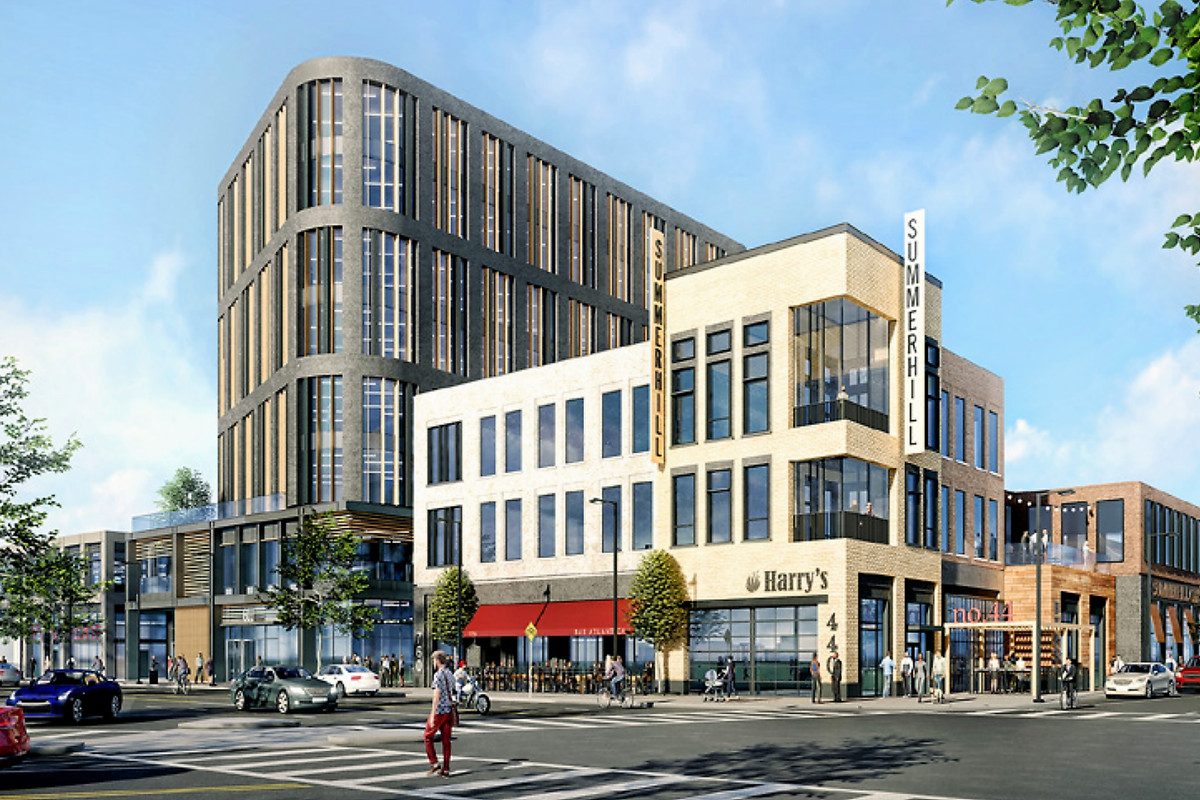 A rendering of the Georgia Avenue redevelopment