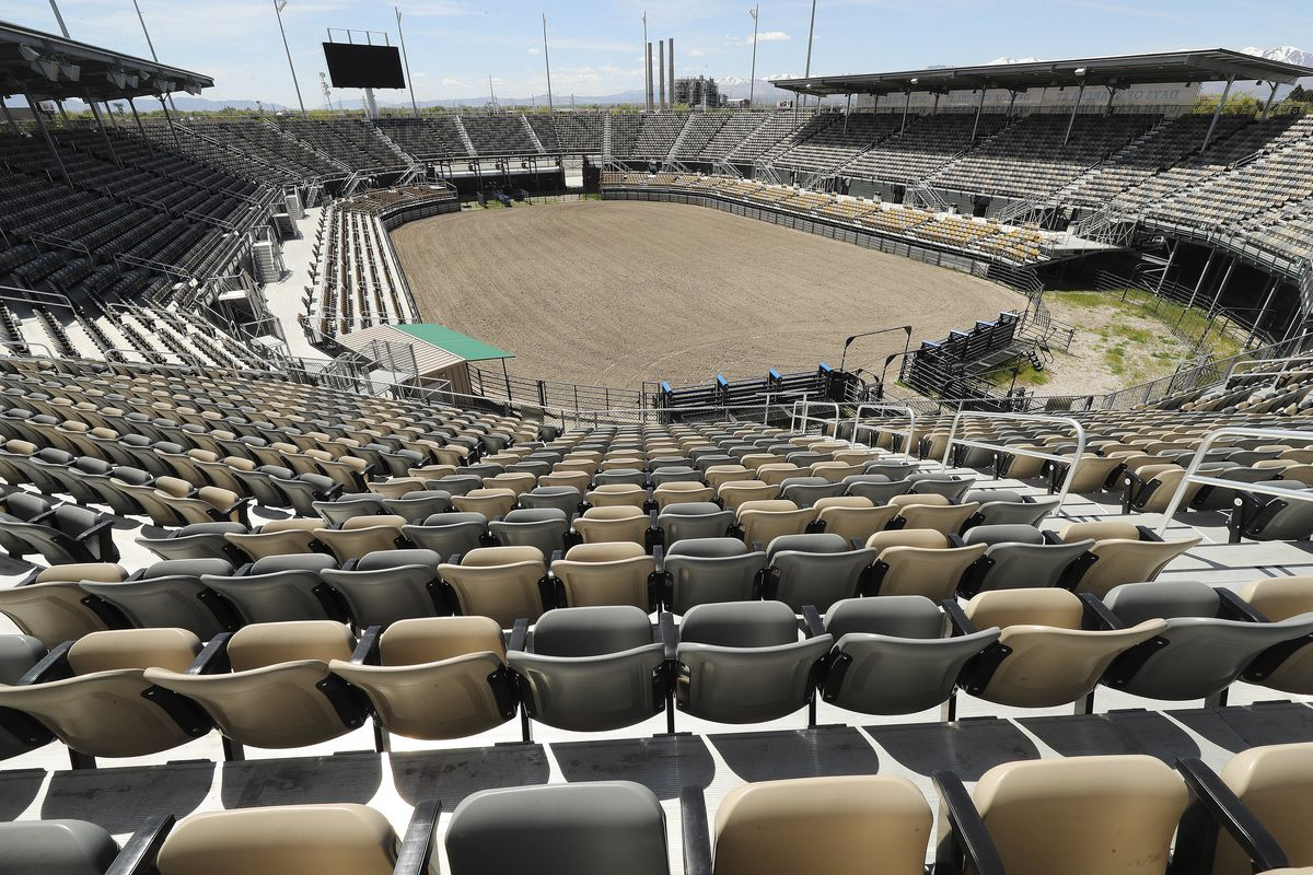 The Days of '47 Arena at the Utah State Fairpark in Salt Lake City is pictured on Tuesday, April 28, 2020.