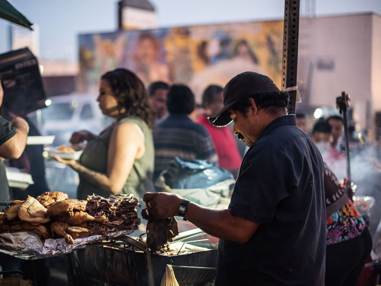 Street vendor in 6th and Bonnie Brae, Los Angeles