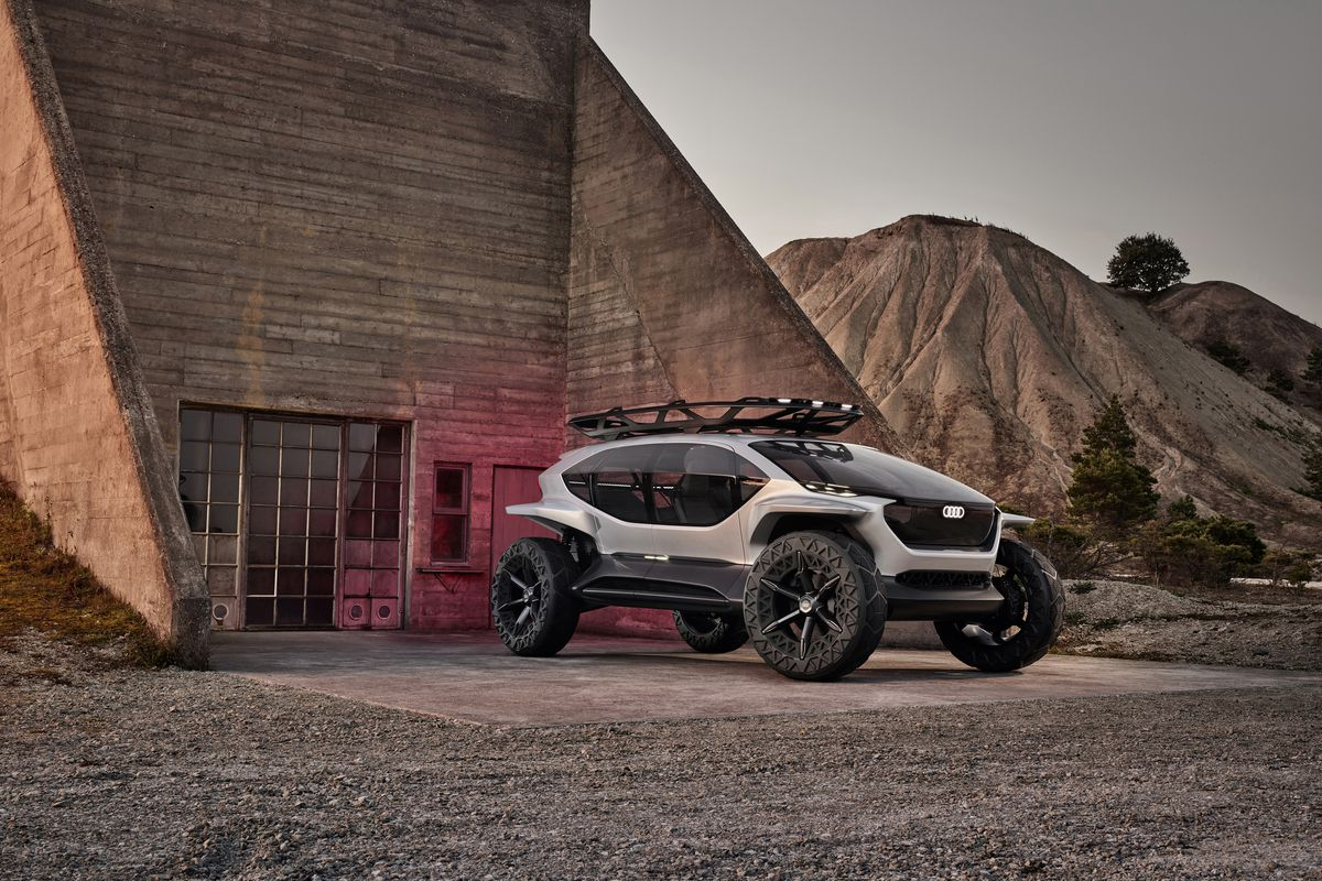 Audi S New Concept Is An All Electric Off Roader With Drones For Headlights The Verge