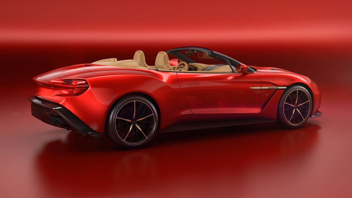 aston martin made a convertible vanquish zagato and of course it's
