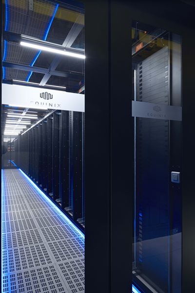 servers inside Equinix data center