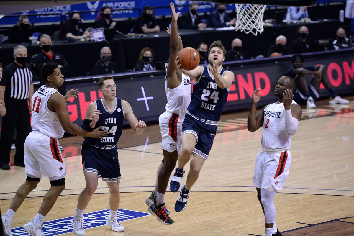 NCAA Basketball: Mountain West Conference Tournament- San Diego St vs Utah St