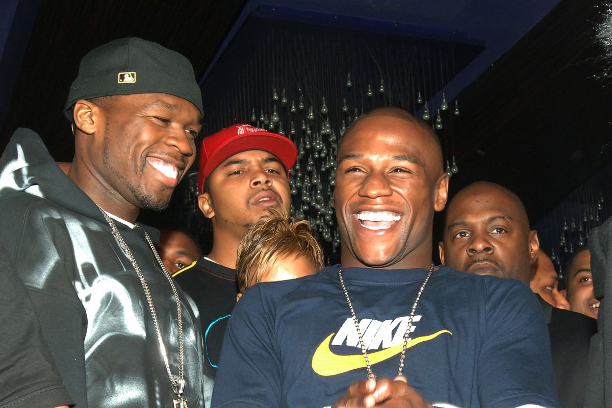 Floyd Mayweather Jr.'s 30th Birthday Party with 50 Cent at JET Nightclub at The Mirage Hotel and Casino Resort