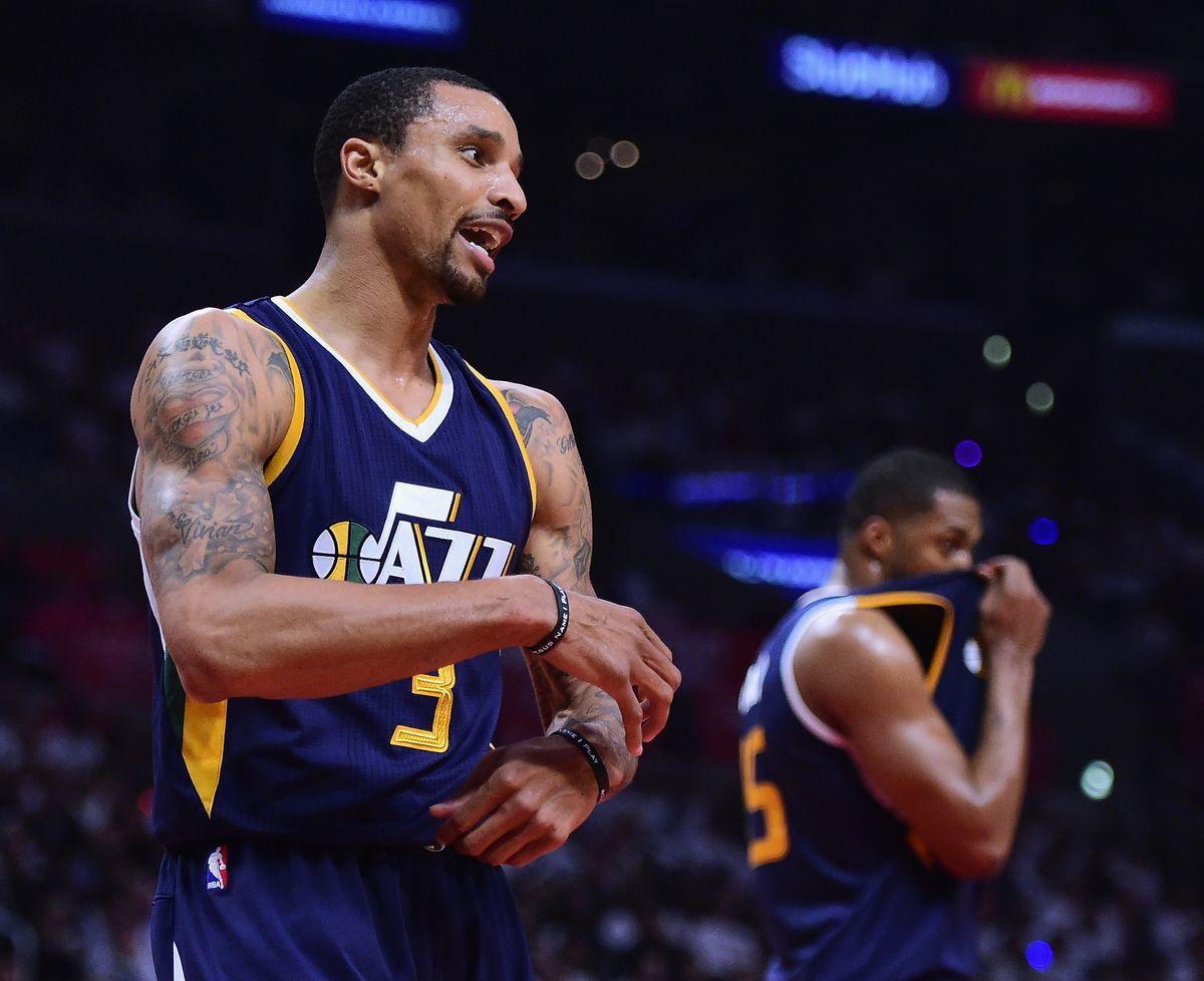 George Hill and Derrick Favors (GettyImages)