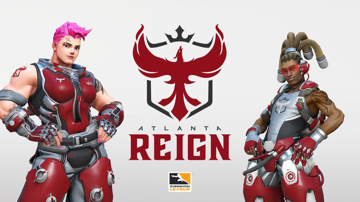 The Atlanta Reign logo and team skins