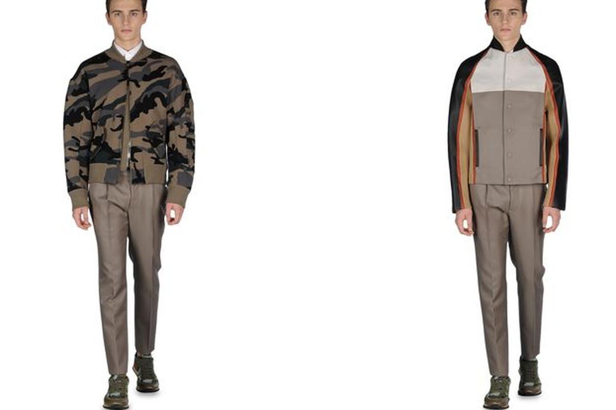 "Valentino men's jackets, <a href=""http://store.valentino.com/VALENTINO/search/Coats_and_jackets/MEN/season/main/tskay/B60ACEA7/c/cat_195/gender/U/mm/112/"">$2,880 each</a>"
