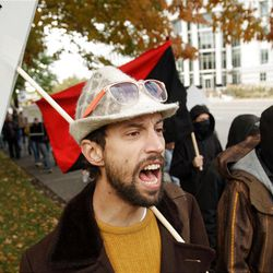 Occupy SLC participants were more peaceful and low-key on Sunday.