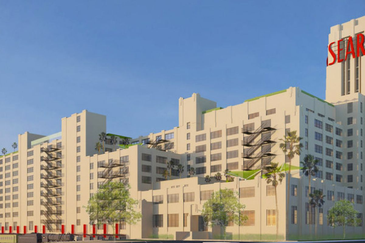"""Image via <a href=""""http://la.curbed.com/archives/2014/04/first_look_at_makeover_plans_for_boyle_heights_sears_building.php"""">Curbed LA</a>"""
