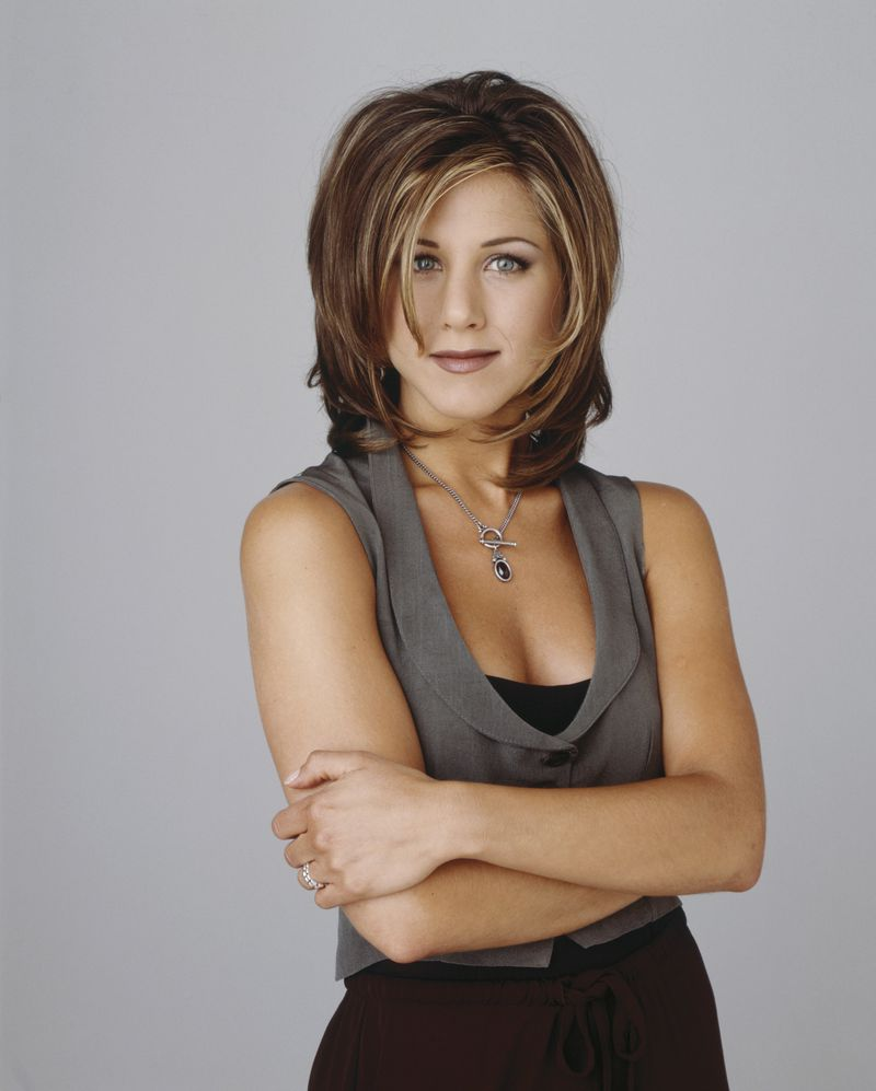 Jennifer Aniston as Rachel Green in a promotional photo for Friends.