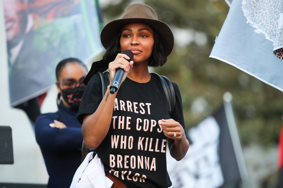 BLD PWR And Black Lives Matter Los Angeles Host Final March To The Polls In Downtown Los Angeles