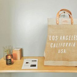 The Los Angeles Market Bag was designed for a day at the farmer's market onto a night at the Hollywood Bowl.