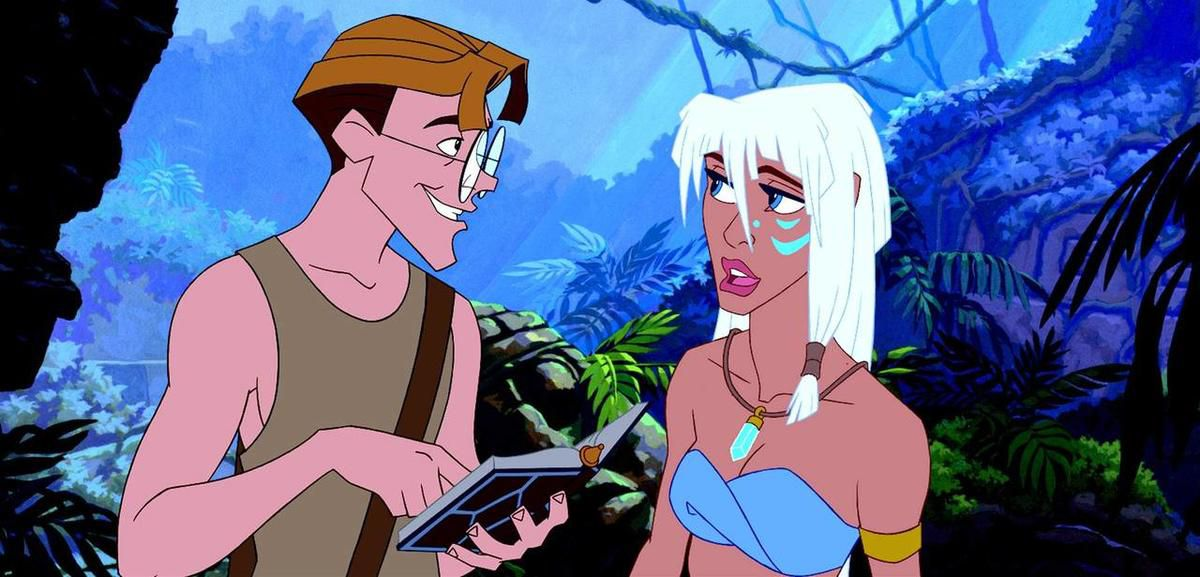 """Milo James Thatch (voice of Micahel J. Fox) and Princess """"Kida"""" Kidagakash (voice of Cree Summer) in """"Atlantis: The Lost Empire."""""""
