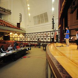 Some of the Chicago Public Schools' best spellers from across the city compete in annual Citywide Spelling Bee Championship at the Lindblom Math and Science Academy on March 14, 2019. The winner will earn the opportunity to represent Chicago Public Schools at the Scripps National Spelling Bee in Washington, D.C., where they will compete against the best spellers from across the nation for the title of 2019 national Spelling Bee Champion and an opportunity to win a $40,000 prize. | Victor Hilitski/For the Sun-Times