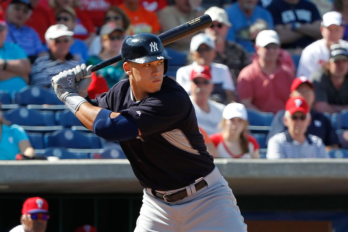 Aaron Judge is a very large man. He can also hit baseballs far. And yet, he is buried on the Yankees depth chart?