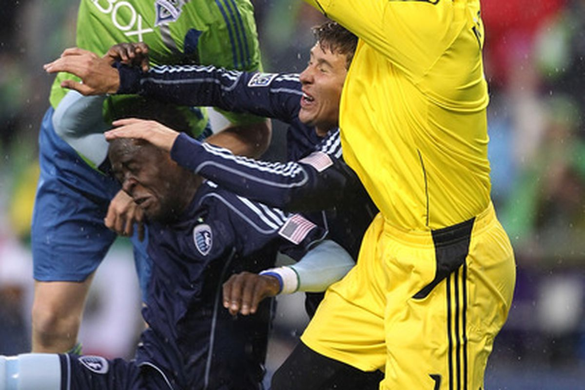Nate Jaqua will no longer be double teamed while wearing a Sounders kit.