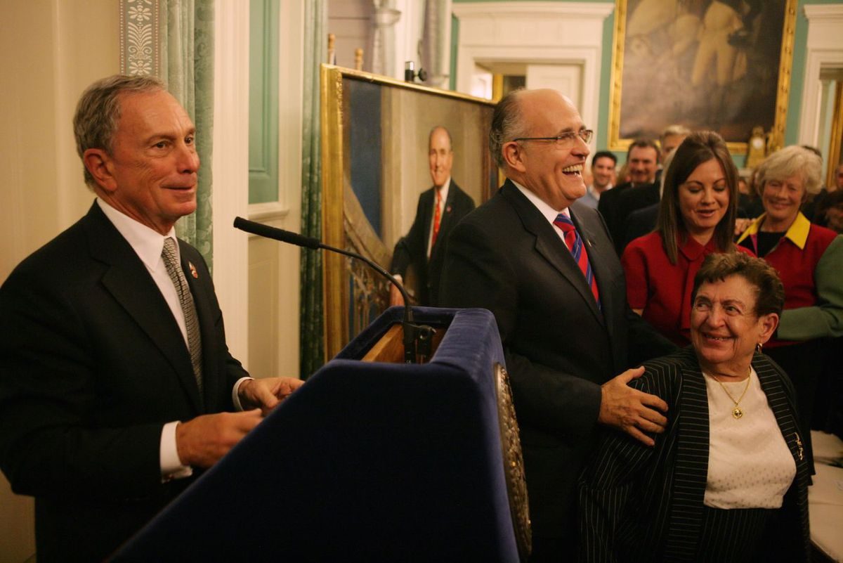 Michael Bloomberg and Rudy Giuliani