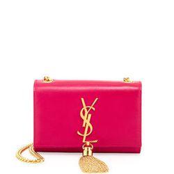 "Saint Laurent Cassandre Small Tassel Crossbody Bag in Pink, <a href=""http://www.neimanmarcus.com/Saint-Laurent-Cassandre-Small-Tassel-Crossbody-Bag-Pink-Saint-Laurent/prod166390357___/p.prod?icid=&searchType=MAIN&rte=%252Fsearch.jsp%253FN%253D4294914334%2"