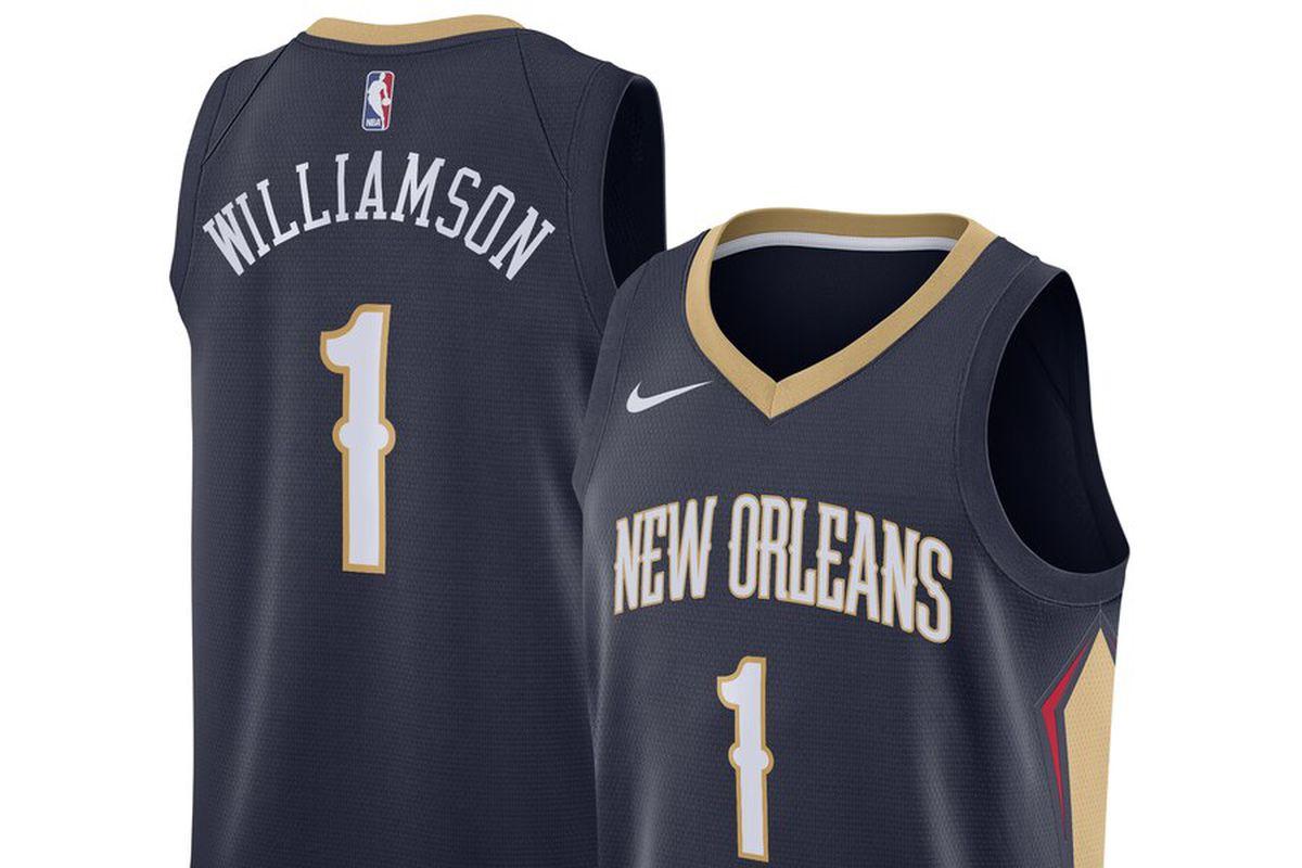 more photos 7ba25 d91da The Zion Williamson Pelicans Nike Swingman jersey has ...