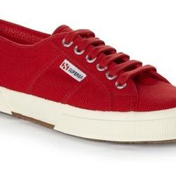 """Superga <a href=""""http://www.superga.co.uk/item/Brand_Superga2750CotuClassic_360_0_29_3.html"""">2750 Cotu Classic</a>: """"I live in these, no matter what season it is. With tights and a dress or jeans and a tee, you can't argue with the versatility."""""""