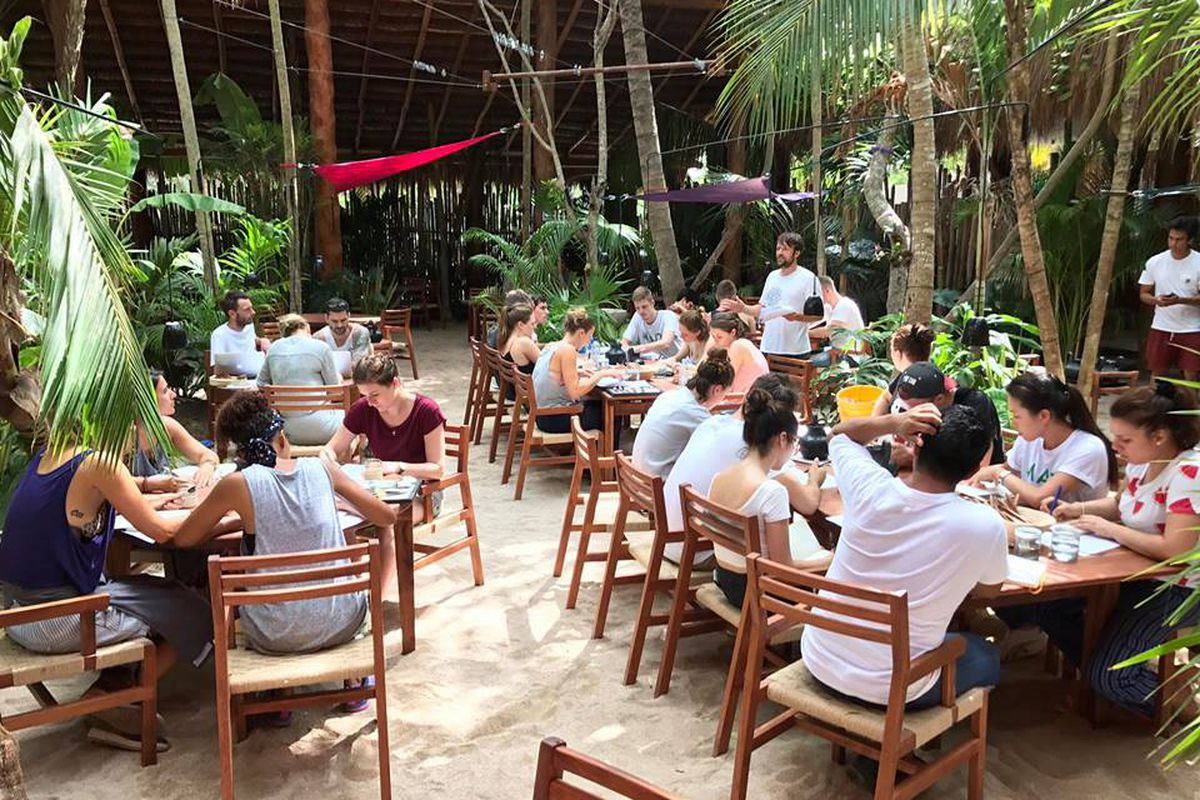 René Redzepi Leads A Staff Meeting At Noma Mexico Facebook