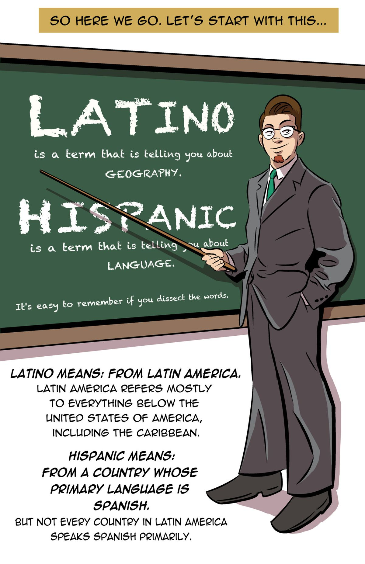 i m latino i m hispanic and they re different so i drew a comic