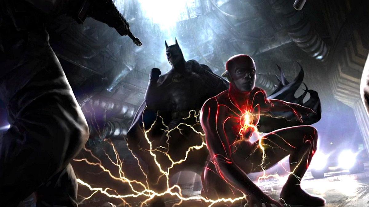 The flash movie concept art: Batman and Flash meet in Flashpoint crossover