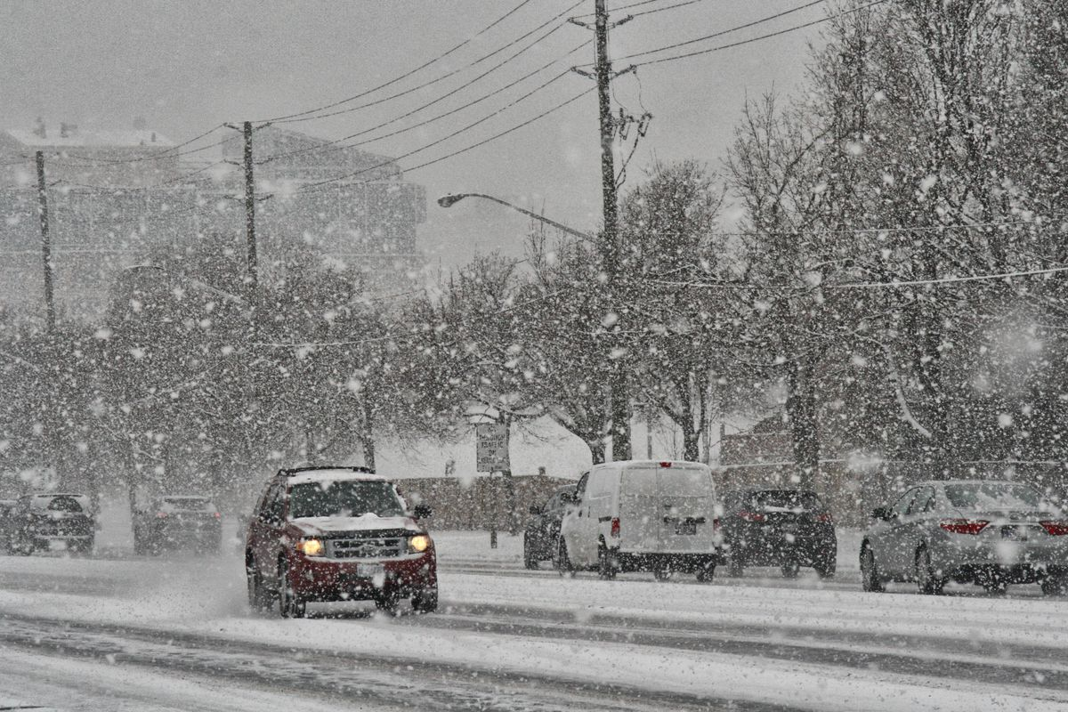 Toronto Gets Hit By Winter Snowstorm