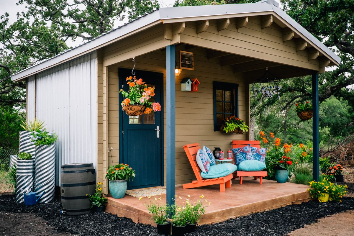 A tiny house in a village of tiny houses for the homeless in Austin, Texas  Photo by Celesta Danger