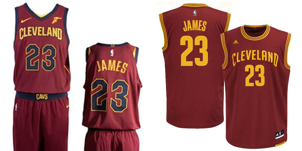 0d08d2443 LeBron James s new red Cavaliers jerseys with yellow and blue accents