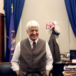 Rep. Rob Bishop, R-Utah, stand in his office at the U.S. Capitol in Washington, D.C., on Tuesday, Dec. 8, 2015.