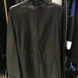 Leather top with mock neck, $563 (was $1,875)