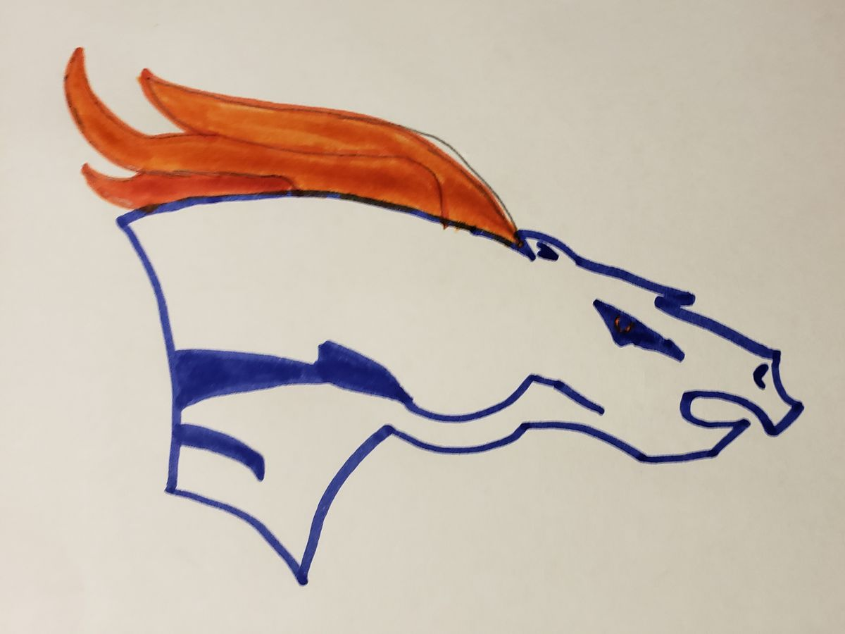 Bradley Chubb Attempted To Paint The Denver Broncos Logo Mile High