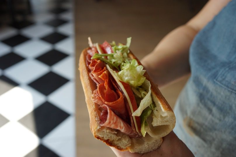 An Italian sub from Mae's Market and Cafe in Old Town