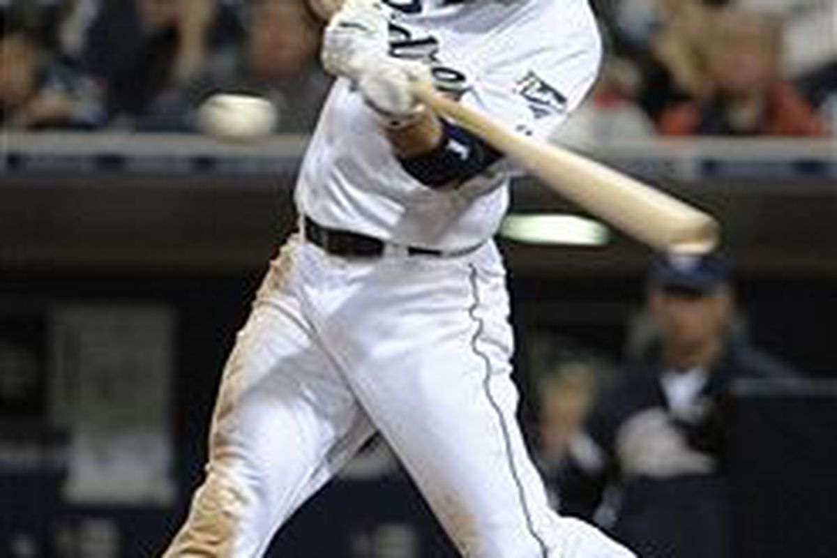 San Diego Padres outfielder Blake Tekotte (Photo by Denis Poroy, Getty Images)