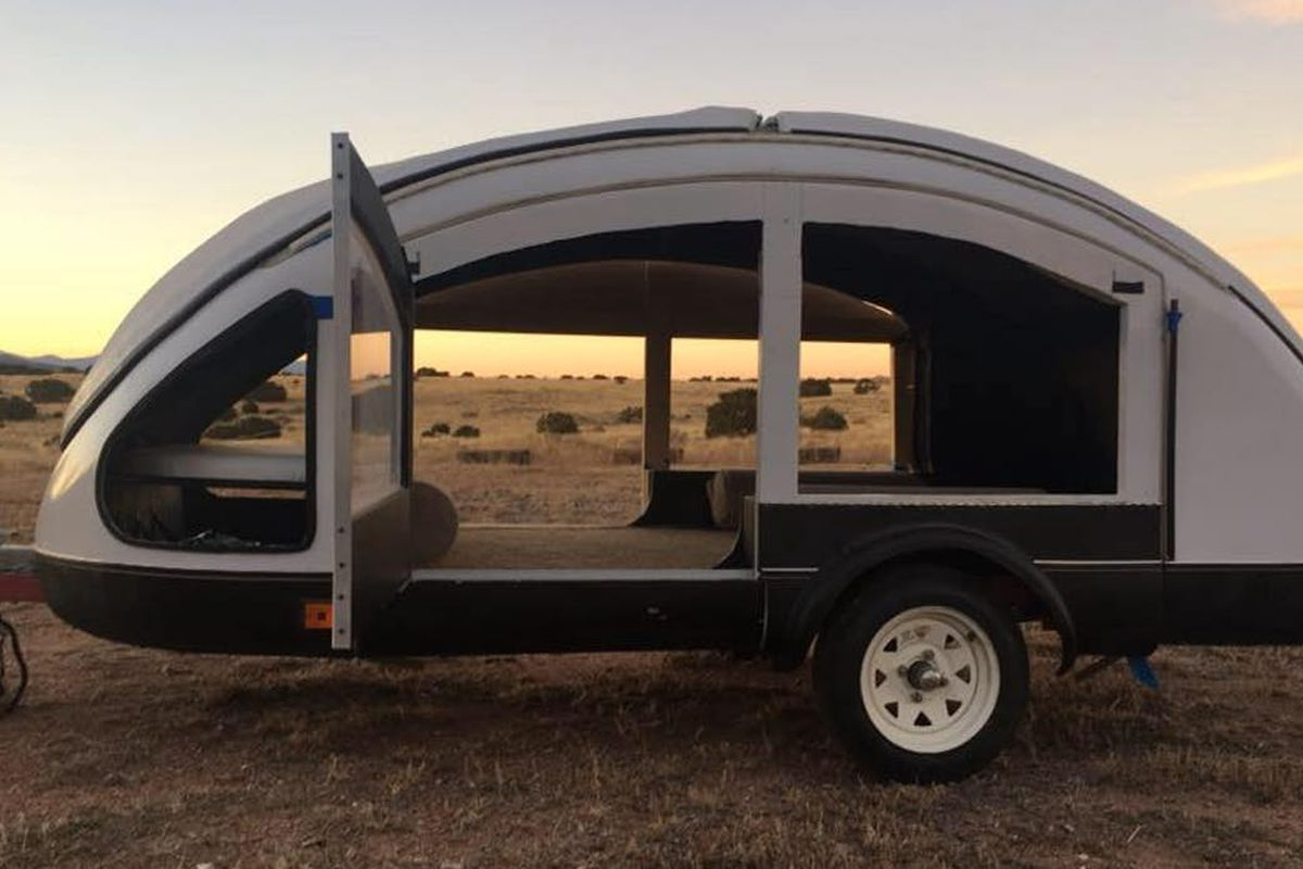 Futuristic camper trailer may be the lightest ever made - Curbed
