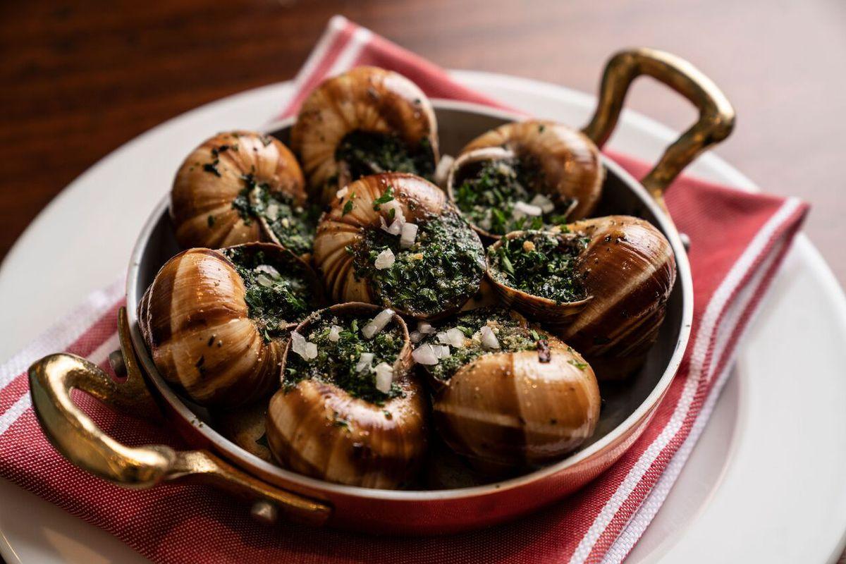 Escargot bourguignon at Favorite Bistro