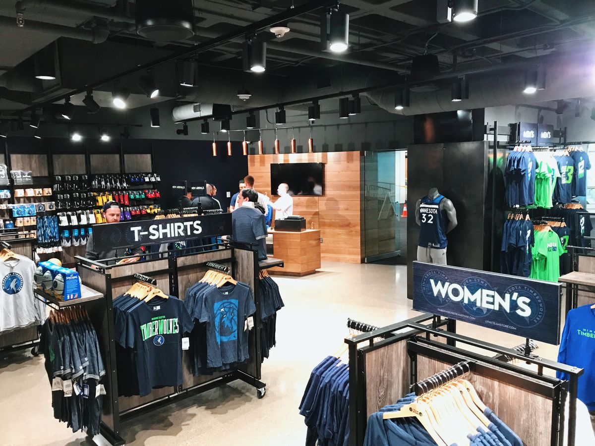 sports shoes 00f12 6ffbf Remodeled Timberwolves Team Store Opens - Canis Hoopus