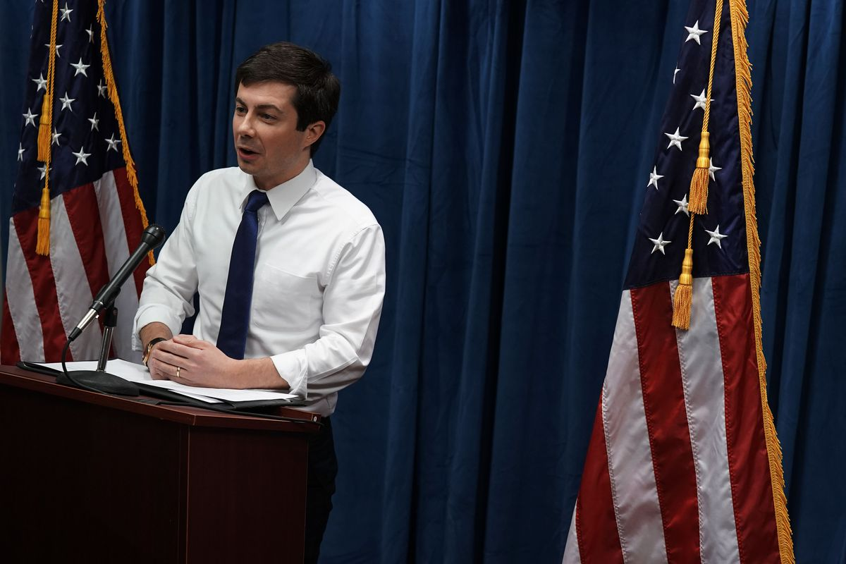 Mayor Pete Buttigieg of South Bend, Indiana, speaks during a news conference January 23, 2019 in Washington, DC