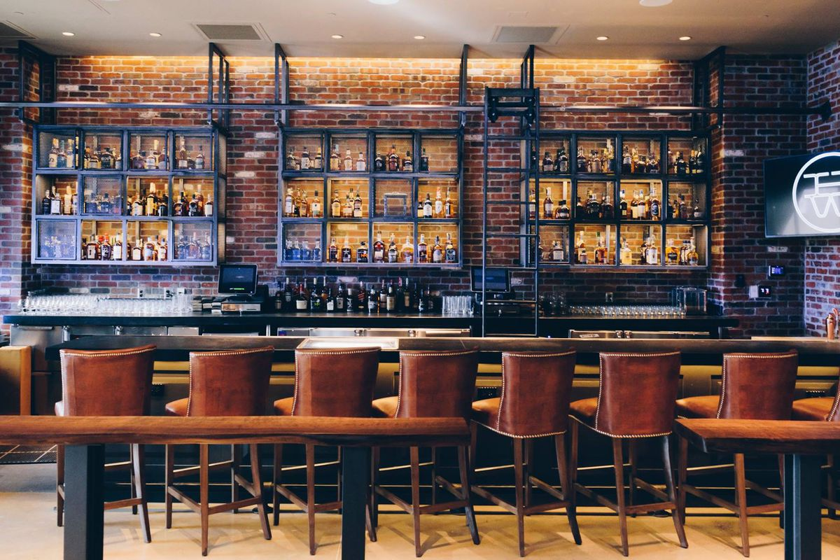 Legacy west steakhouse haywire debuts today eater dallas for Texas leather interiors dallas