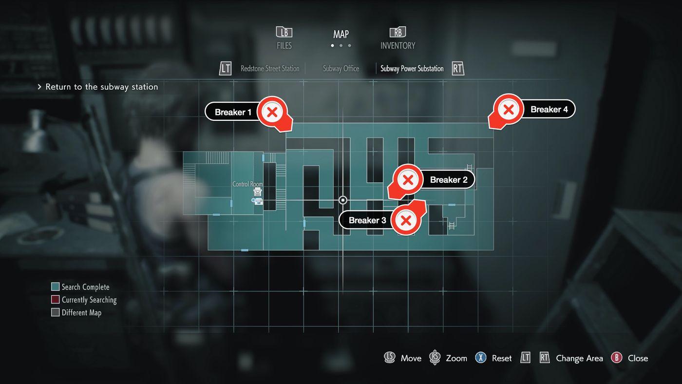 resident evil 3 remake item map