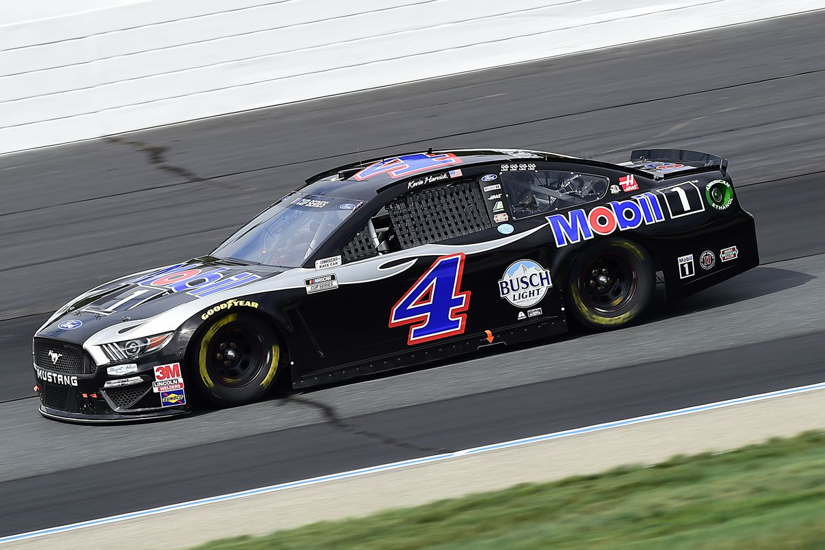 Kevin Harvick, driver of the Mobil 1 Ford, drives during the NASCAR Cup Series Foxwoods Resort Casino 301 at New Hampshire Motor Speedway on August 02, 2020 in Loudon, New Hampshire.