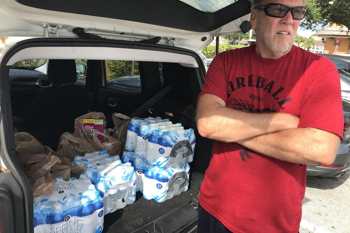 Sandbags filled for Hurricane Dorian preparation