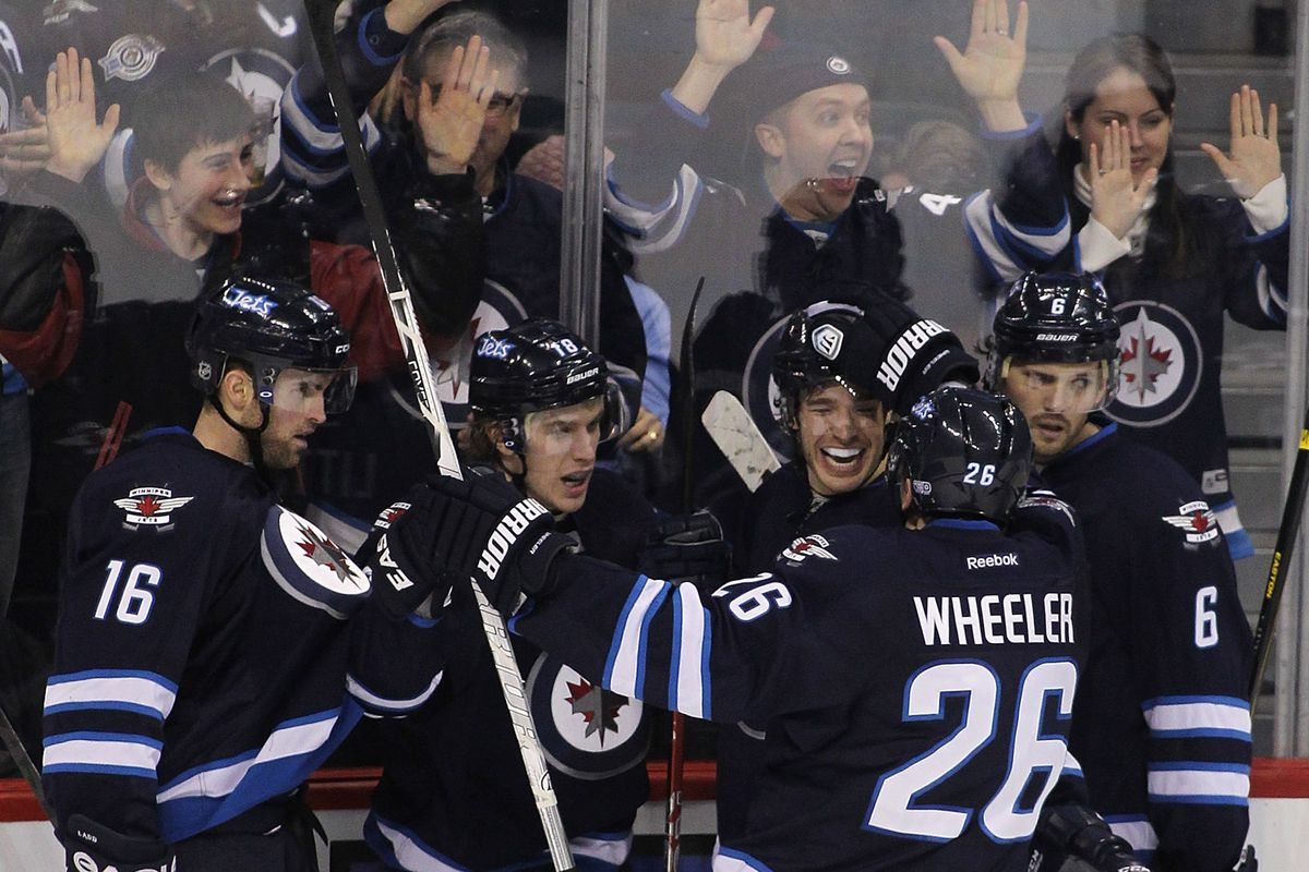 How have the Jets forwards done so far this year?  Let's have a look.