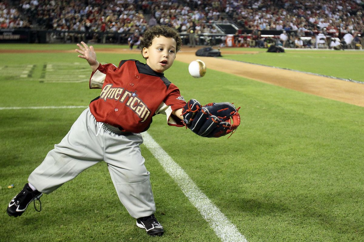 This is Asdrubal Cabrera's son. Weaker with the bat, but look at his range.