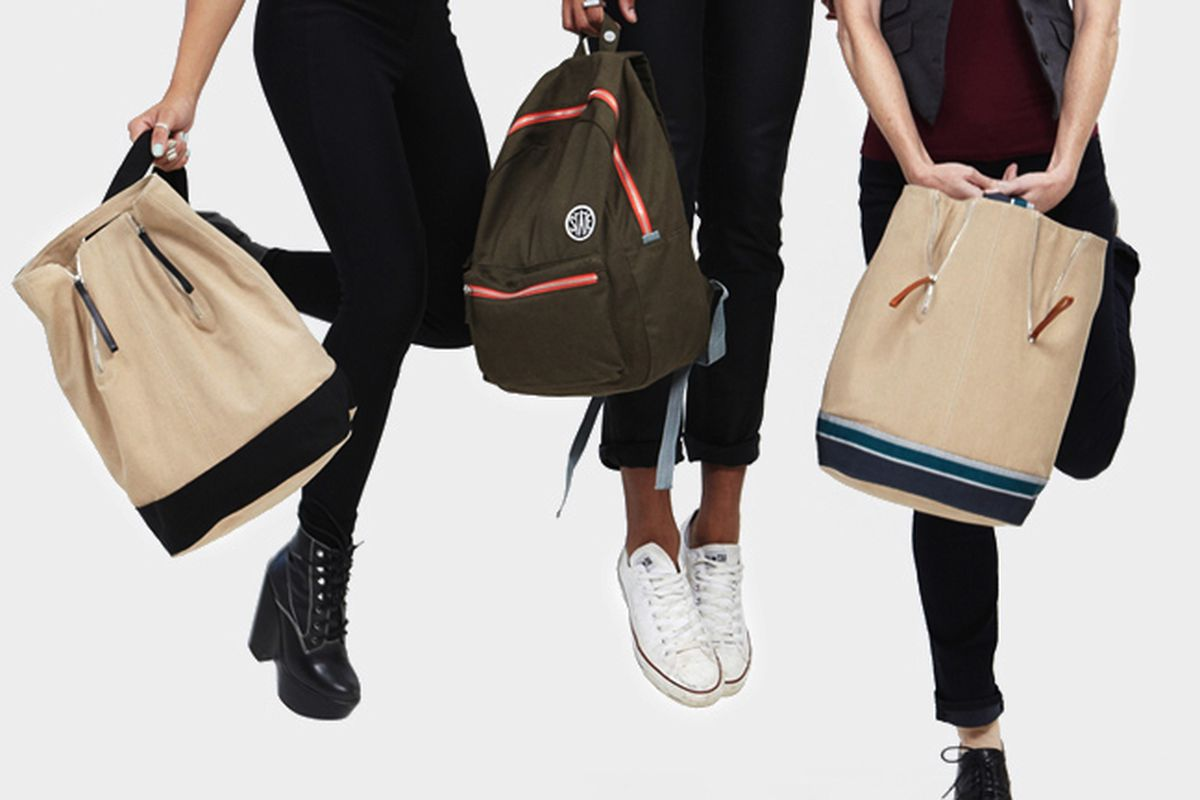 """<a href=""""http://www.statebags.com/products/the-durham"""">Durham</a> ($65) and <a href=""""http://www.statebags.com/products/the-ashton"""">Ashton</a> ($185) bags"""